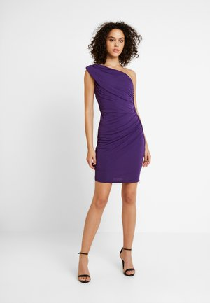 YASKASA ONE SHOULDER DRESS - Jerseykjole - merlot