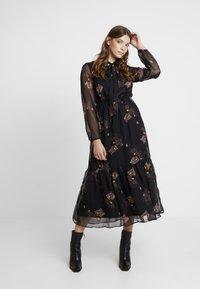 YAS - YASCELINA DRESS - Freizeitkleid - black - 2