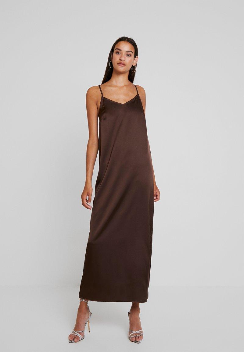 YAS - YASLASIA STRAP DRESS - Maxi dress - coffee bean