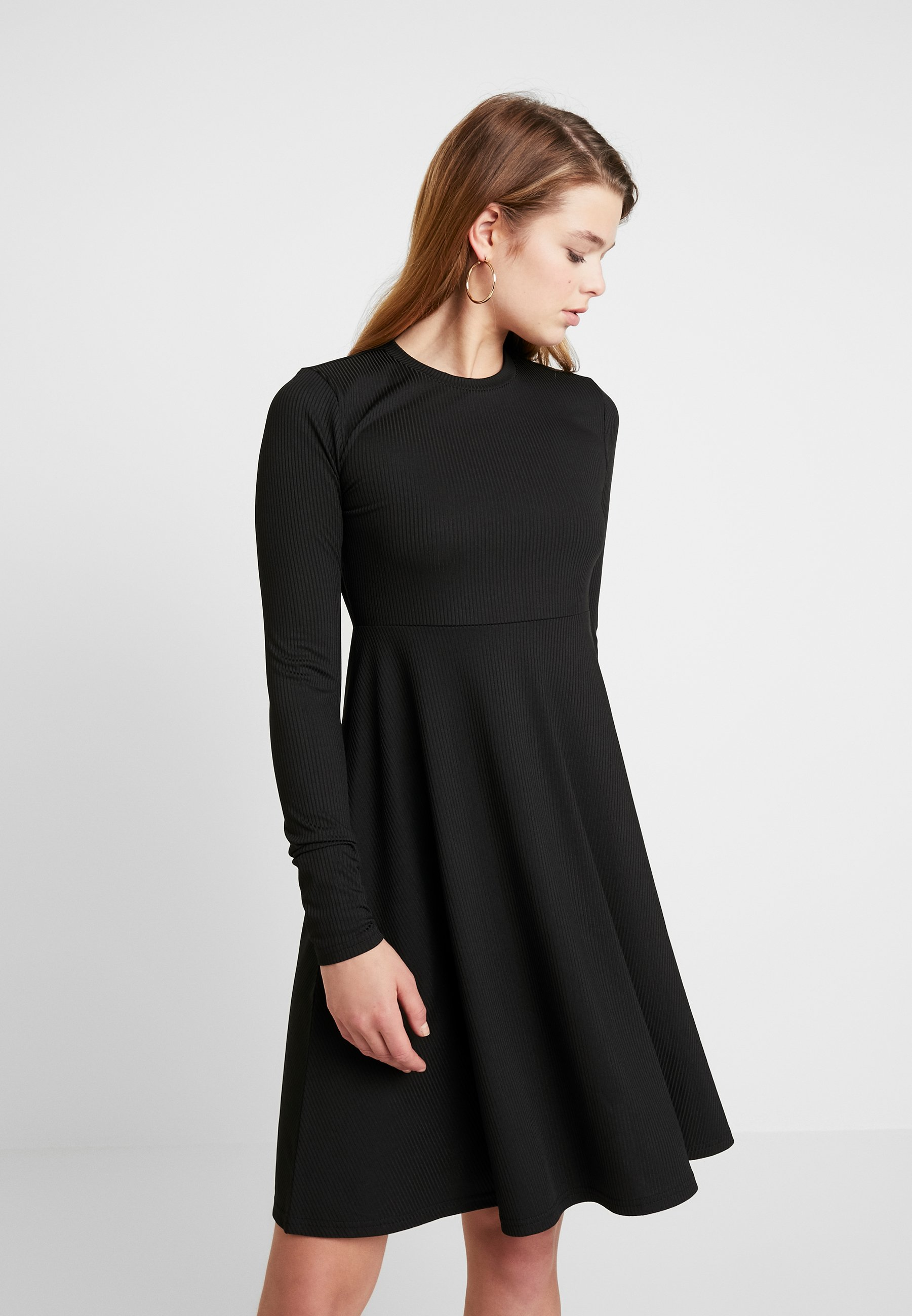 Jersey DressRobe Yasblax Flared En Black Yas m8wOyvn0N