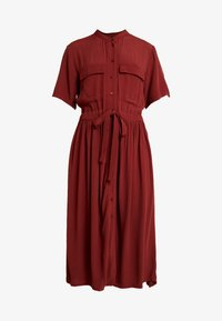 YAS - YASNEELA DRESS - Skjortklänning - madder brown - 4