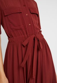 YAS - YASNEELA DRESS - Skjortklänning - madder brown - 5