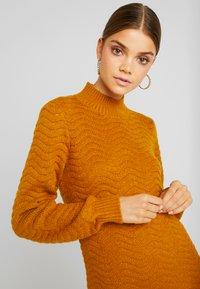 YAS - YASBRENTRICE DRESS - Jumper dress - buckthorn brown - 5
