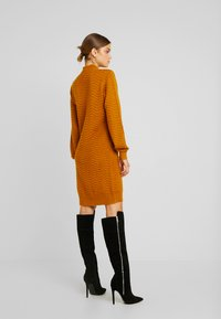 YAS - YASBRENTRICE DRESS - Jumper dress - buckthorn brown - 3
