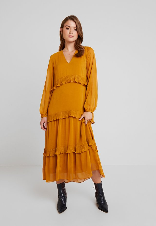 YASESTELLE LONG DRESS - Korte jurk - buckthorn brown