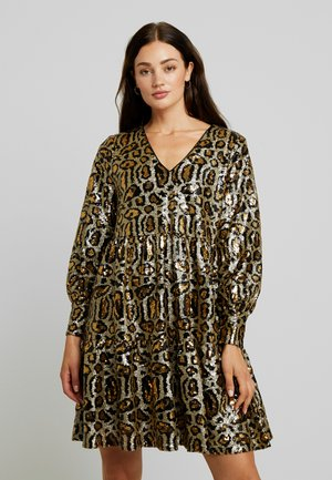 YASMIMI DRESS - Juhlamekko - black/gold
