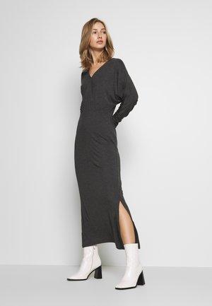 YASWINEA MAXI DRESS - Maxiklänning - dark grey melange