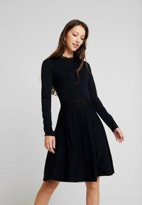 YAS - YASBECCO DRESS - Strikket kjole - black - 0