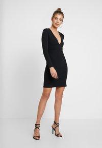 YAS - YASATLANTA BODYCON DRESS PARTY - Denní šaty - black - 1