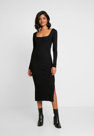 YASBREEN MIDI DRESS - Shift dress - black