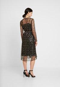 YAS - YASCHLOE DRESS - Cocktailjurk - black/gold - 3