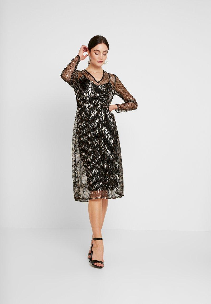 YAS - YASCHLOE DRESS - Cocktailjurk - black/gold