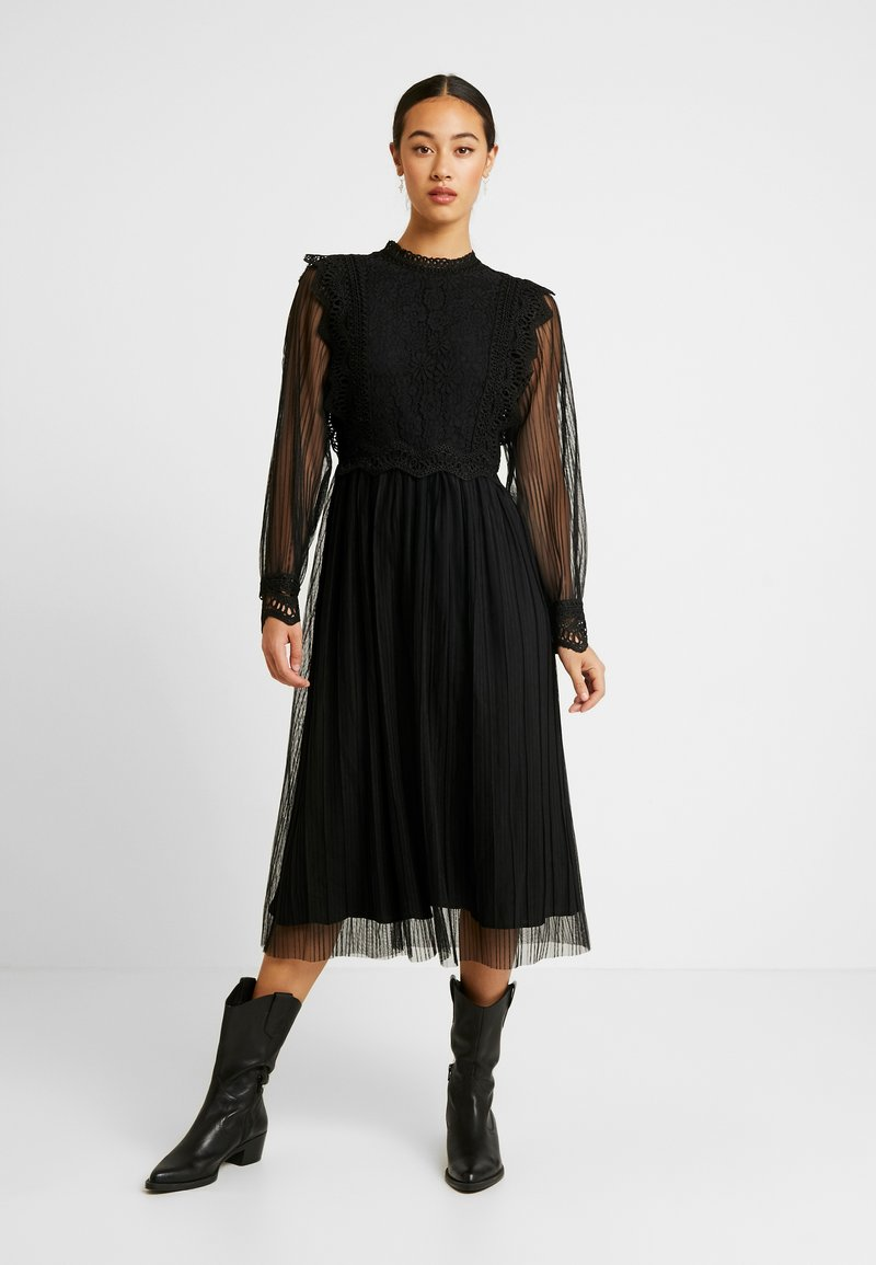 YAS - YASSOPHIA MIDI DRESS - Sukienka koktajlowa - black