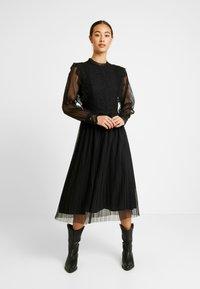 YAS - YASSOPHIA MIDI DRESS - Sukienka koktajlowa - black - 2