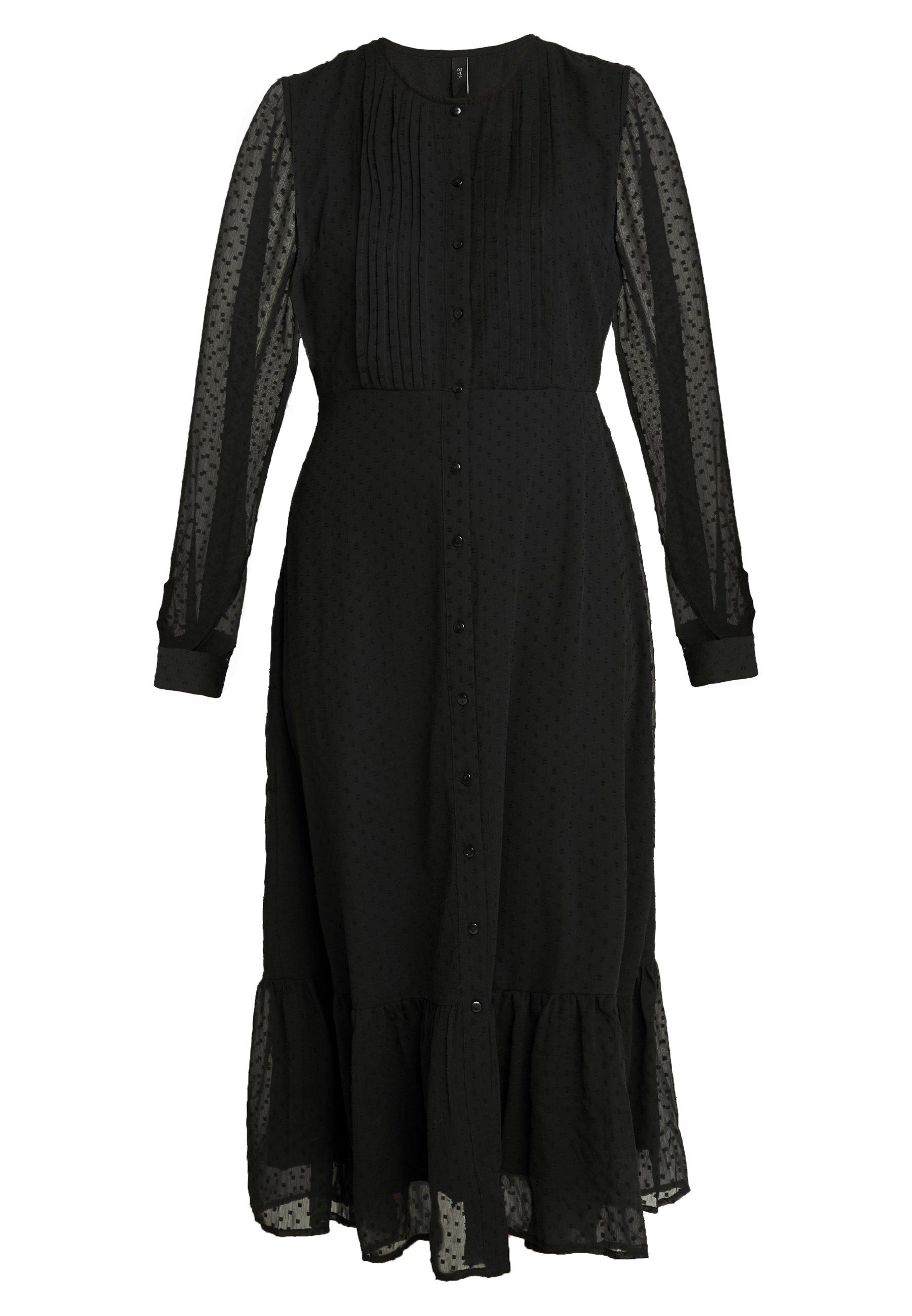 Yas Yasella Long Dress - Skjortklänning Black