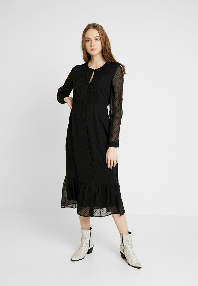YASELLA LONG DRESS  - Shirt dress - black