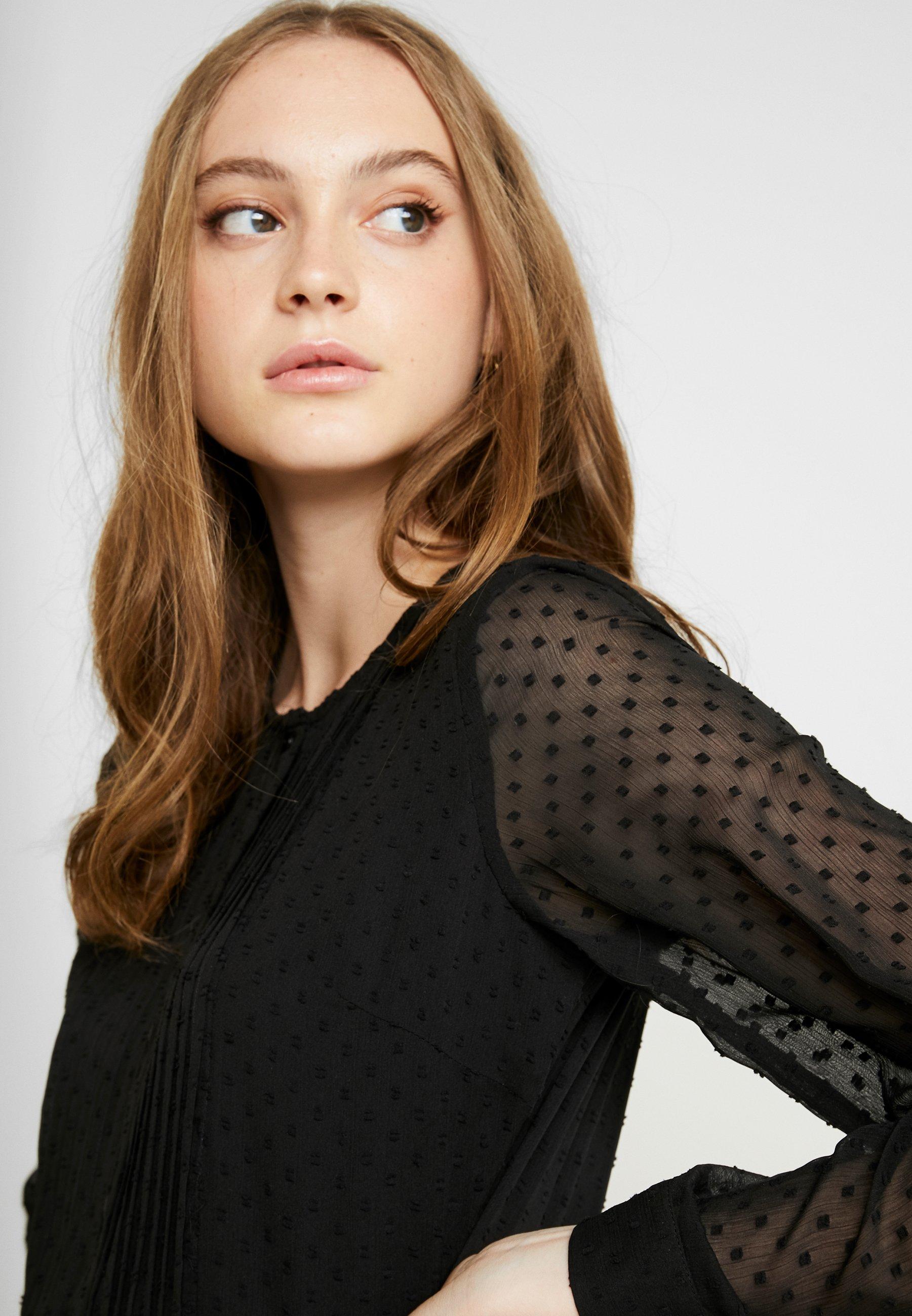 YAS YASELLA LONG DRESS  - Skjortklänning - black