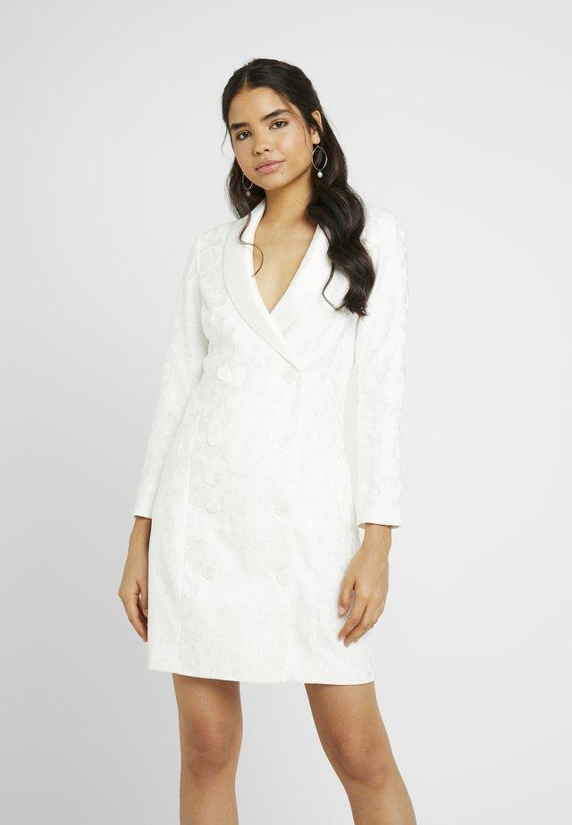YASBLAIR BLAZER DRESS - Korte jurk - star white