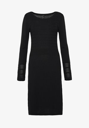 YASINES KNIT DRESS - Robe pull - black