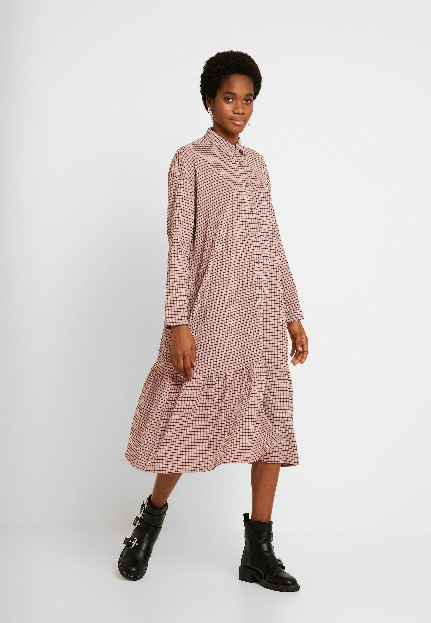 YAS YASCHECKIE DRESS - Abito a camicia - powder pink