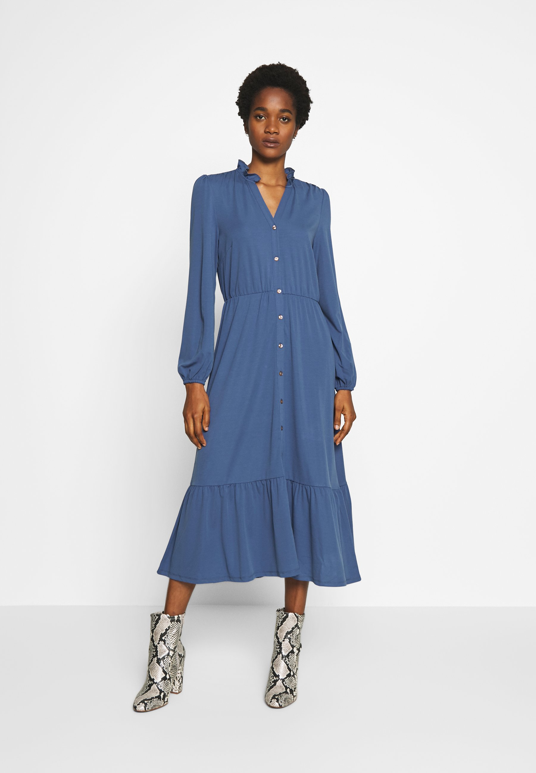 YAS YASJUNE MIDI DRESS - Sukienka z dżerseju - true navy