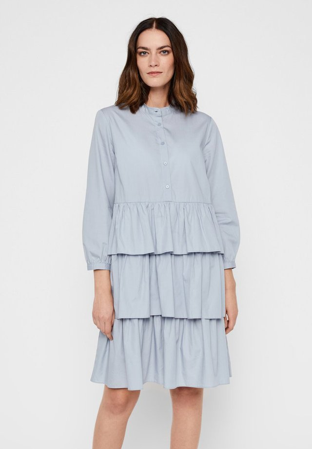 SHIRT DRESS - Shirt dress - dusty blue