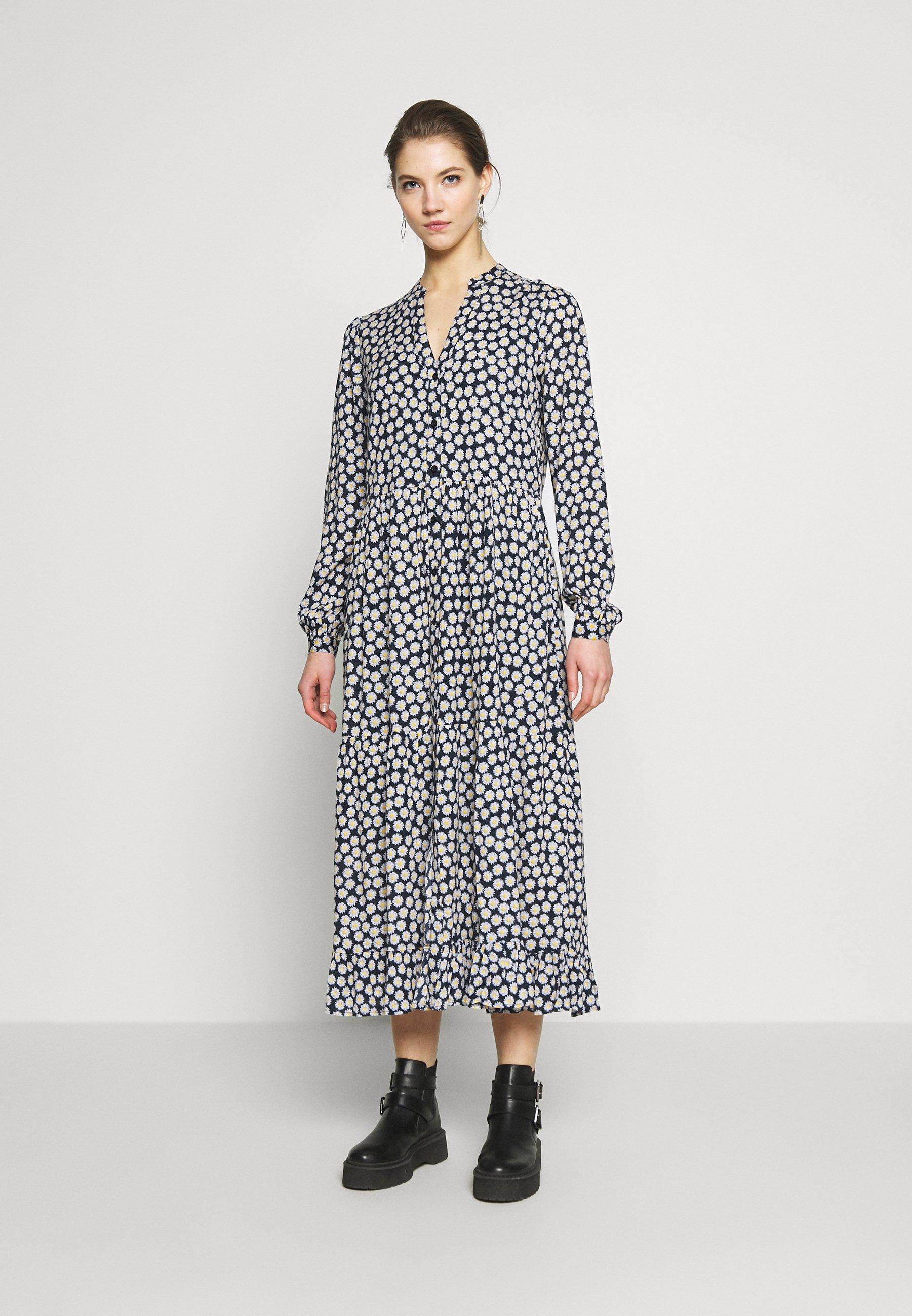 YAS YASDAISY LONG DRESS - Sukienka letnia - navy blazer