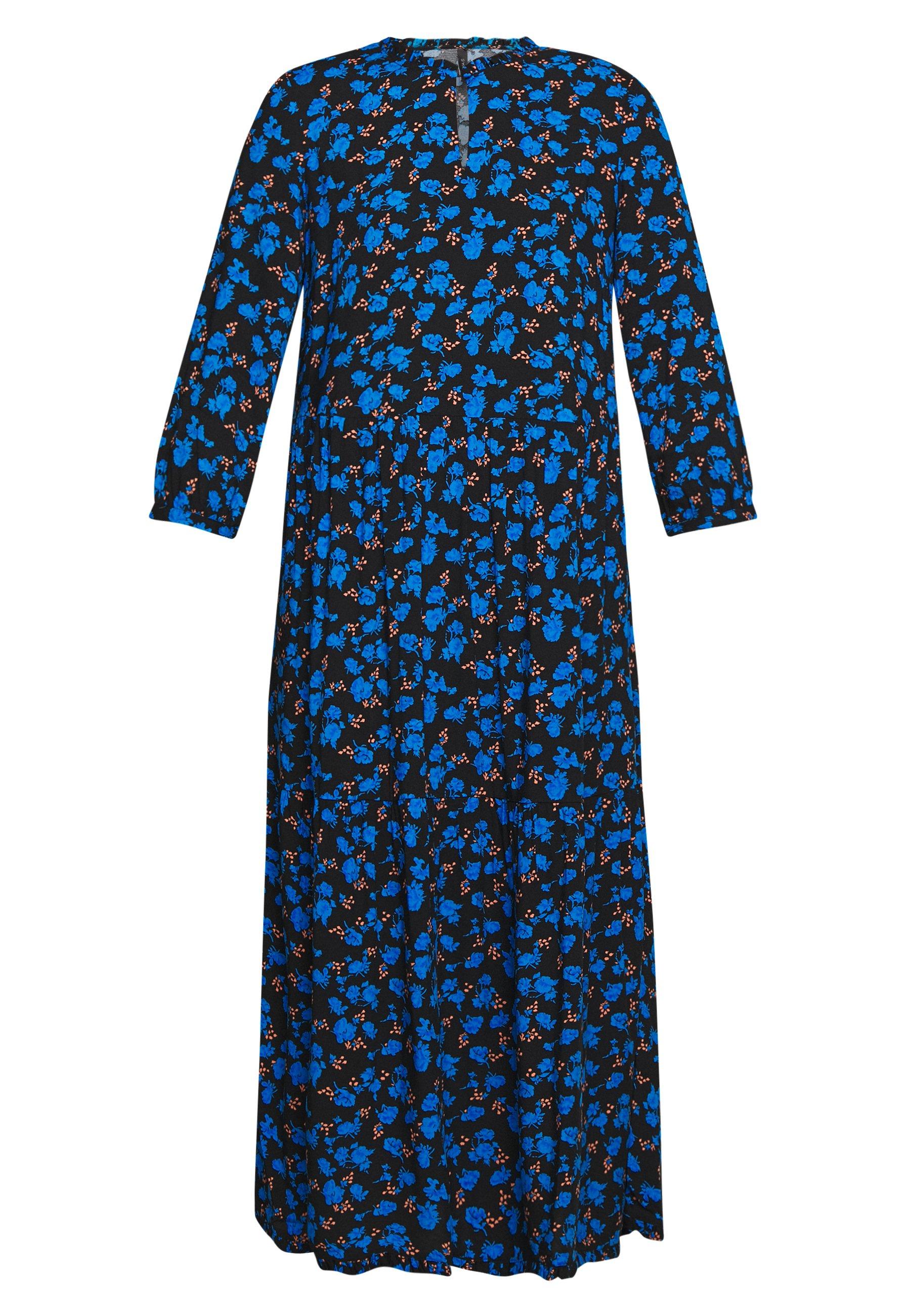 Yas Yasgreenish - Robe D'été Black/blue