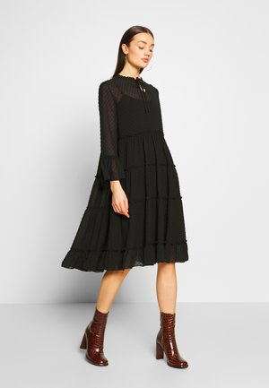 YASMIRENA LS DRESS FT - Vestito estivo - black