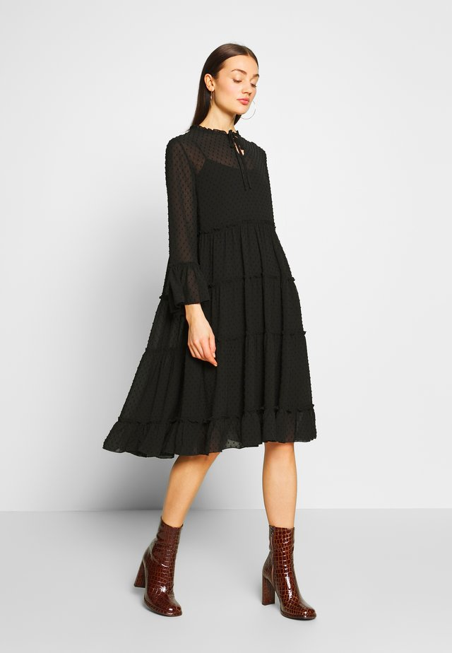 YASMIRENA LS DRESS FT - Korte jurk - black