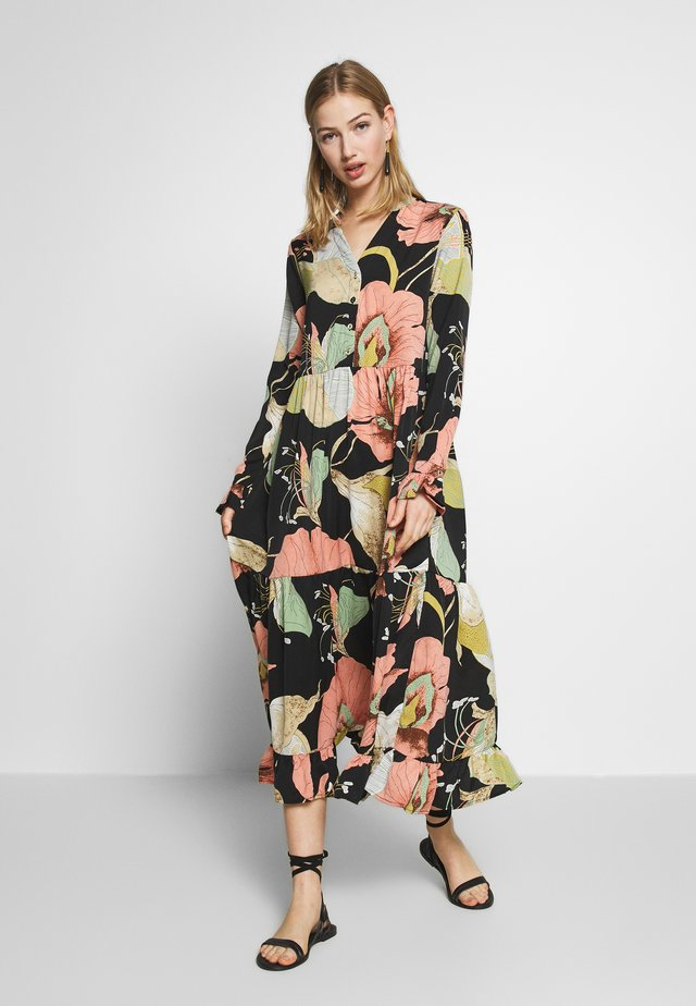 YASBLOOMI ANKLE DRESS - Korte jurk - black
