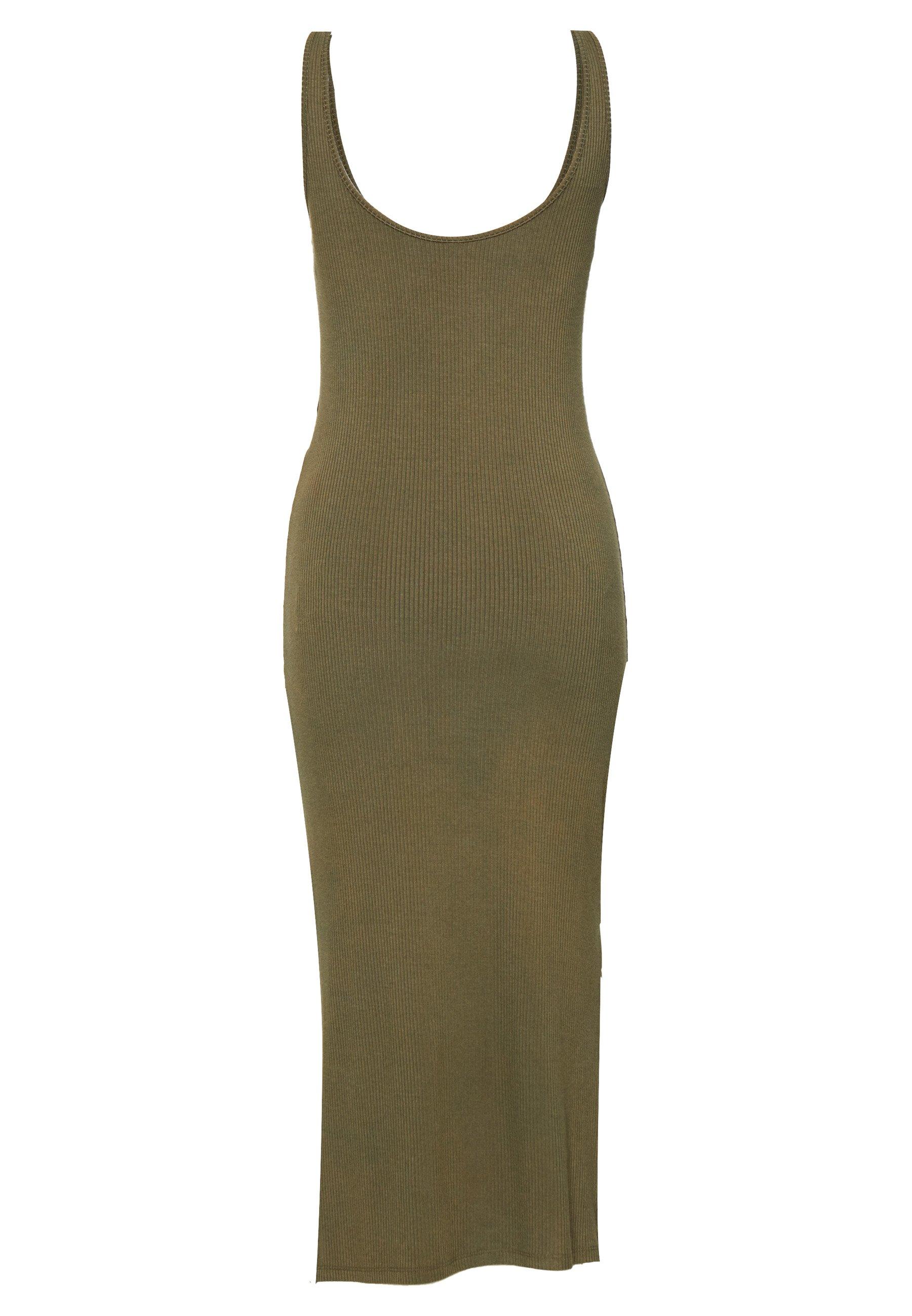 YAS YASBLAX LONG DRESS - Długa sukienka - stone gray