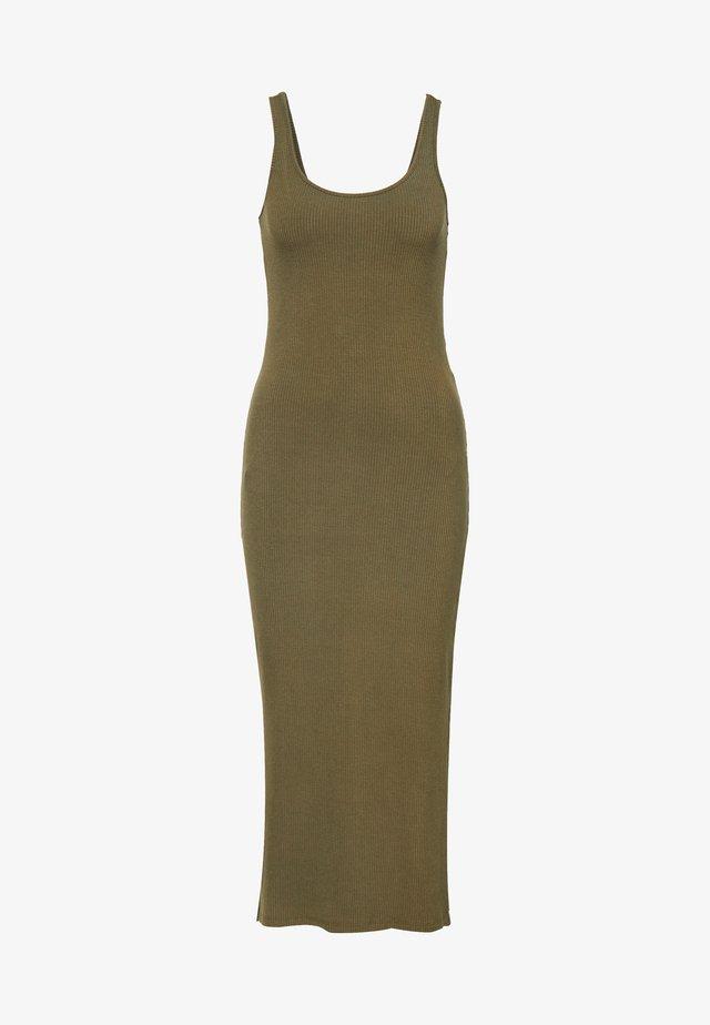 YASBLAX LONG DRESS - Maxi šaty - stone gray