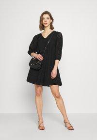 YAS - YASPENNY DRESS  - Korte jurk - black - 1