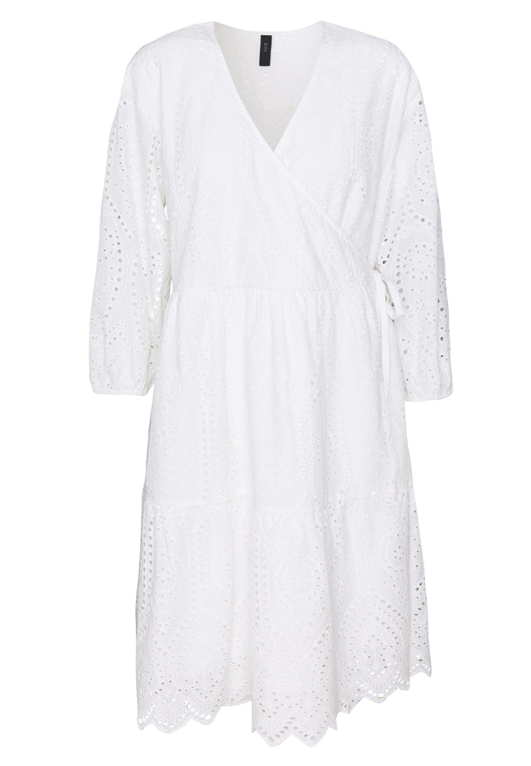 Yas Yasholi Wrap Dress - Robe D'été Star White