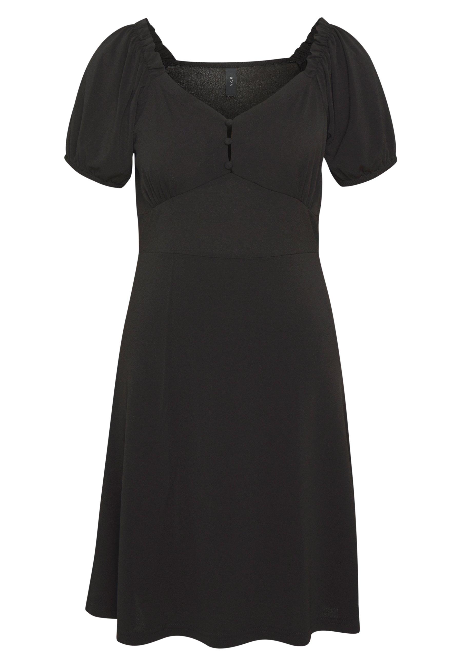 YAS YASMONJA SHORT DRESS - Sukienka z dżerseju - black