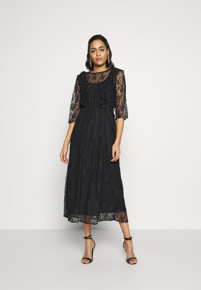 YASEMMA MAXI LACE DRESS  - Juhlamekko - black