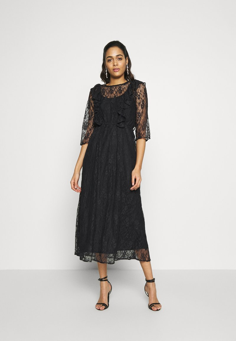 YAS - YASEMMA MAXI LACE DRESS  - Cocktail dress / Party dress - black