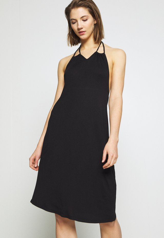 YASFILLI HALTERNECK DRESS - Vestido ligero - black