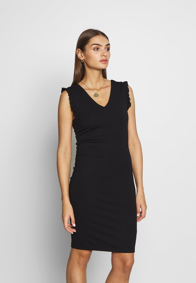 YASCANE FRILL DRESS  - Korte jurk - black