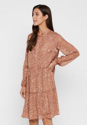 Shirt dress - tannin