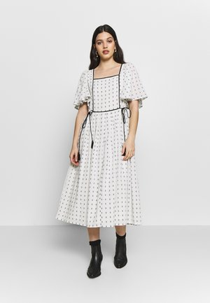 YASLIV MIDI DRESS - Day dress - eggnog/ black