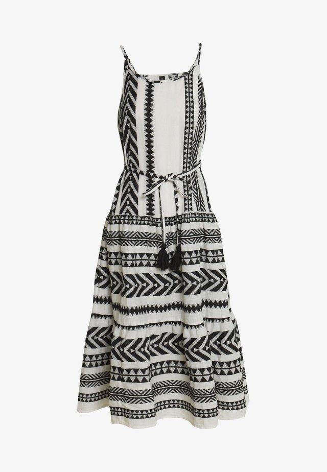 YASROSA STRAP DRESS - Vapaa-ajan mekko - eggnog/black