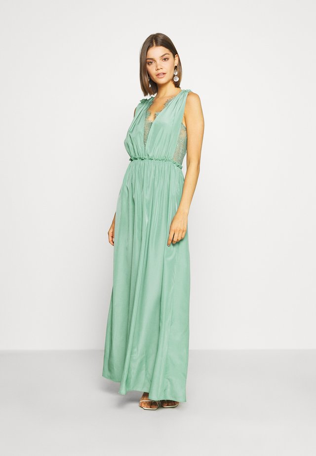 ELENA MAXI DRESS SHOW - Iltapuku - oil blue