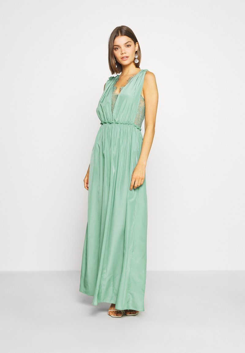 YAS - ELENA MAXI DRESS SHOW - Galajurk - oil blue