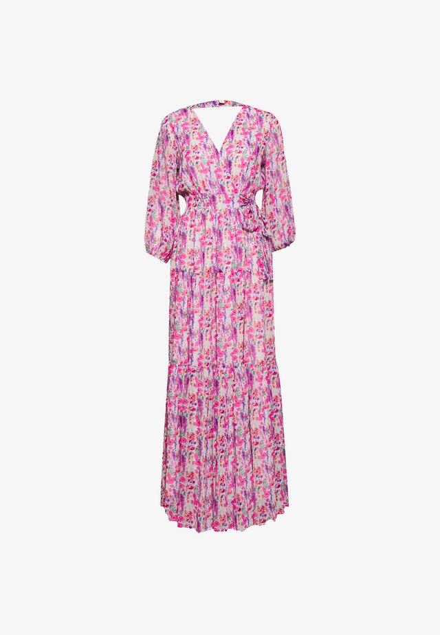 YASESMERALDA WRAP 3/4 DRESS SHOW - Długa sukienka - cradle pink