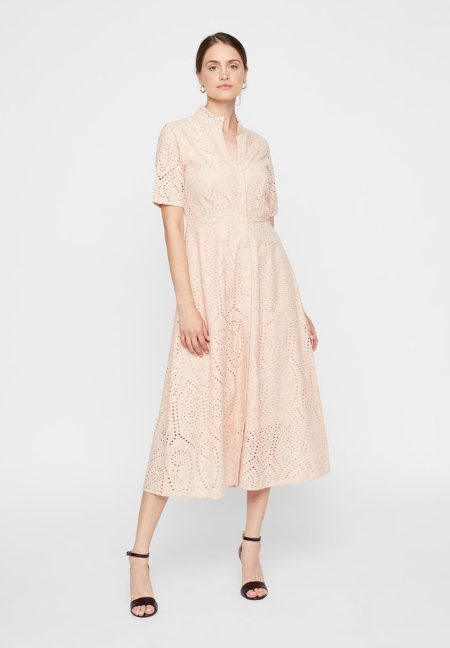 YASHOLI SS LONG  SHIRT DRESS S. - Maxi-jurk - cameo rose