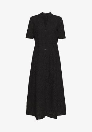 YASHOLI SS LONG  SHIRT DRESS S. - Maxi šaty - black