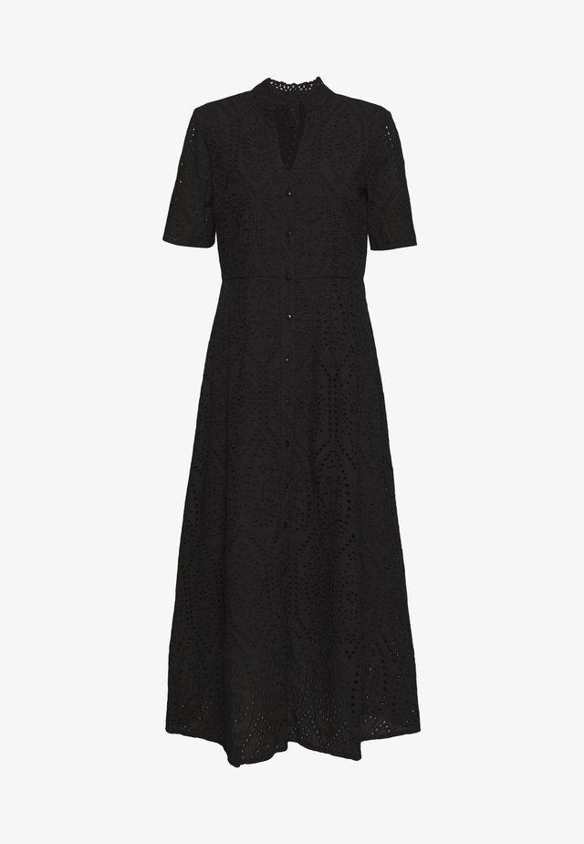 YASHOLI SS LONG  SHIRT DRESS S. - Maxikleid - black
