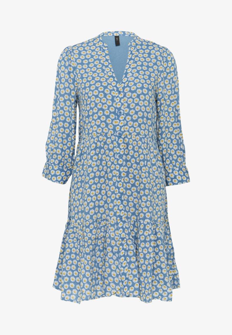 YAS - YASDAISY 3/4 DRESS - Kjole - blue heaven